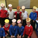 Making hats for our science drama activity