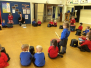 Reception learning Japanese drumming