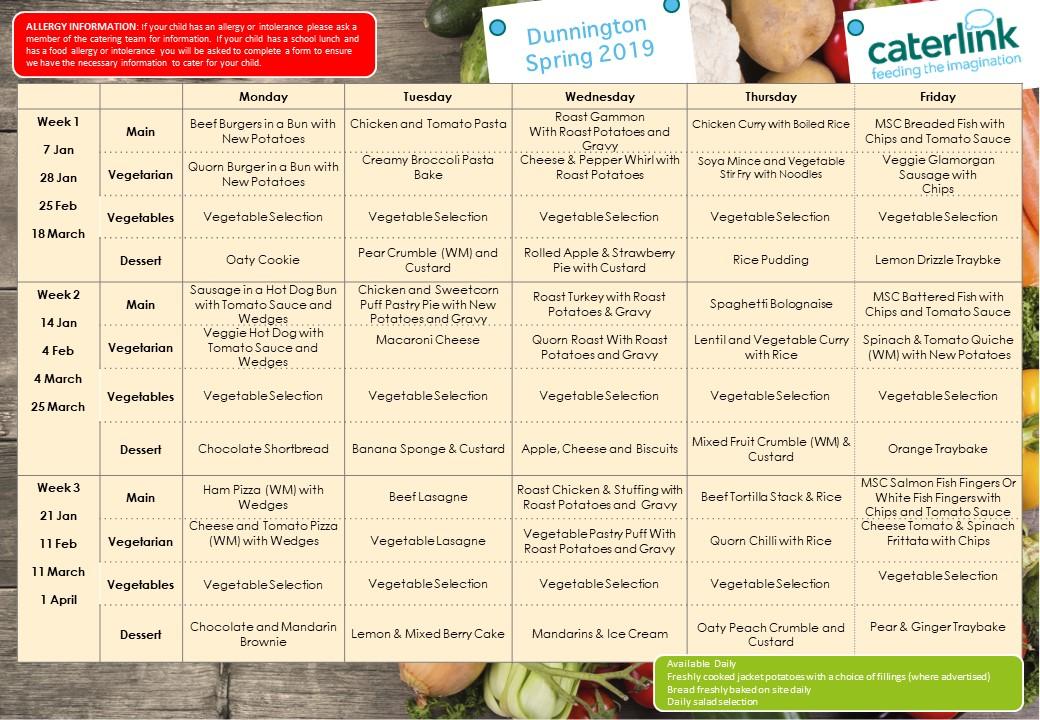 Thumbnail image of the menu - clickable link to .pdf version